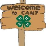 Welcome to 4-H camp sign