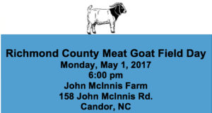 Cover photo for Meat Goat Field Day May 1