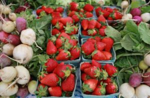 Produce at the farmers' market.