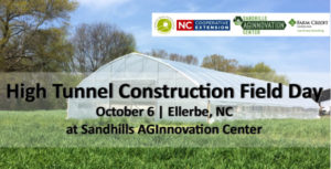 Cover photo for High Tunnel Construction Field Day on Saturday, October 6, 2018